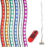 LED Standleuchte Lola Wave | Stehlampe mit RGB,CCT und Fernbedienung | Leuchte modern inklusive LED-Taschenlampe