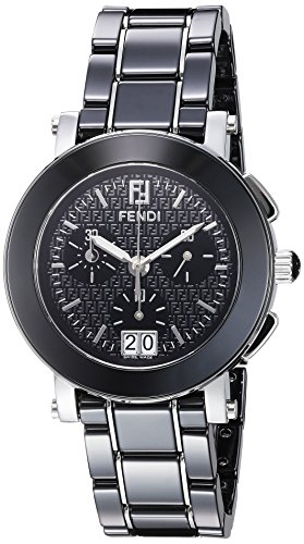 Fendi Women's 38mm Black Ceramic Band Steel Case Anti Reflective Sapphire Swiss Quartz Watch F661110