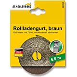 Schellenberg 46104 - Cinta de persiana (14 mm de ancho, 6 m) color marrón