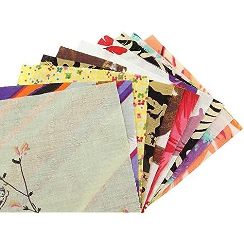 Tela muestras de algodón que acolcha lotes de 10 piezas de muestra reversible de costura del