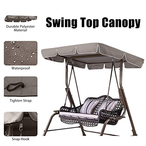 Essort Swing Top Cover, Impermeable Anti-UV Swing Top Protectora Canopy Repuesto para Exterior Porche...