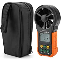 PEAKMETER PM6252A Digital Anemometer,Portable High Precision Handheld Wind Speed Meter Gauge Air Volume Measuring Meter for Weather Data Collection and Windsurfing Kite Flying Sailing