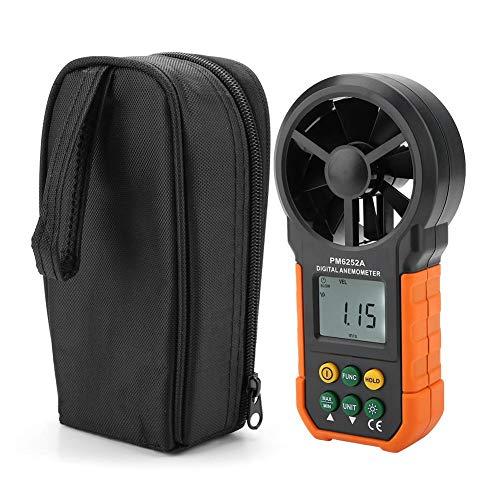 Digital Windmesser Air Volume Wind Geschwindigkeit Messung, Windmessgerät Anemometer mit Data-Hold Funktion, LCD Anzeige, Hintergrundbeleuchtung, Tragtasche, für Windsurfen Segeln Angeln -