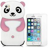 Hcheg funda de silicona diseño rosa panda para Apple iPhone 5/5S - Un diseño elegante y una protección óptima