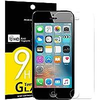Verre Trempé iPhone 5 5S SE 5C, NEW'C Film Protection en Verre trempé écran Protecteur - ANTI RAYURES - SANS BULLES D'AIR-Ultra Résistant Dureté 9H Glass Screen Protector pour iPhone 5 / 5S / 5C / SE
