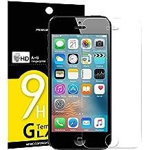 Vetro Temperato iPhone 5S / 5 / SE / 5C, Pellicola Protettiva NEW'C® in Vetro Temperato Screen Protector Film Ultra Resistente (0,33mm HD Alta trasparente) per iPhone 5S / 5 / SE / 5C