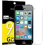 NEW'C Verre Trempé pour iPhone 5,5S,Se,5C, Film Protection écran - Anti Rayures - sans Bulles d'air -Ultra Résistant (0,33mm HD Ultra Transparent) Dureté 9H Glass