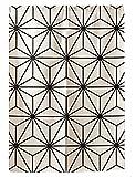 Liveinu Leinen Japanische Noren Vorhang Türvorhang mit Minimalistischer Stil Modern Tür Vorhang Küche mit Teleskopstange Geometrisch Beige 3 85 x 120 cm