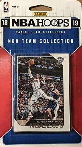 Oklahoma City Thunder 2018 2019 Hoops Basketball Factory Sealed 9 Karten NBA Licensed Team Set mit Russell Westbrook und Paul George Plus
