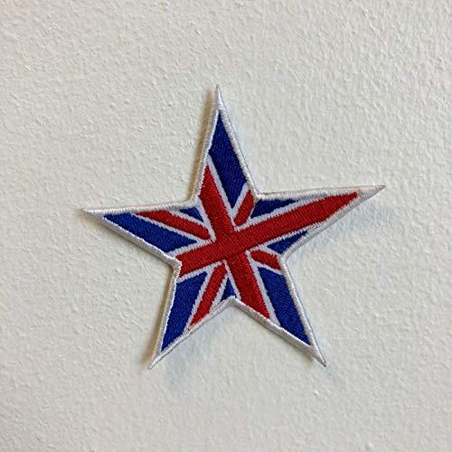 Militär und Armee Stern Abzeichen bunt zum Aufbügeln oder Aufnähen Union Jack Star - Mantel Armee Der Union