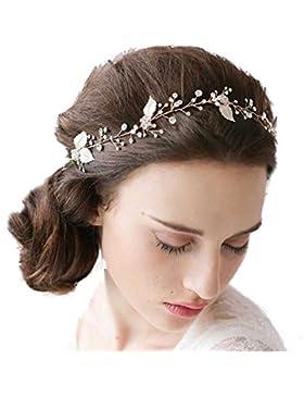 Remedios - Tiara de cristal con diseño floral en cristal, para novia, estilo retro, hecha a mano.