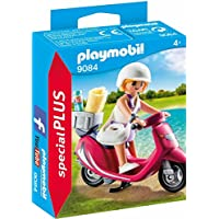 Playmobil Especiales Plus-9084 Mujer con Scooter,, única (9084)