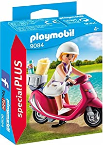 Playmobil Especiales Plus-9084 Mujer con Scooter,, única (9084