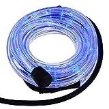 Smartfox LED Lichterschlauch Lichterkette Licht Schlauch 10m für Innen- und Aussenbereich mit 240 LEDs in Blau