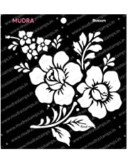 """MUDRA STAMP Stencils -Blossom for DIY Home Decors, Crafts and Mixed Media (6x6"""")"""