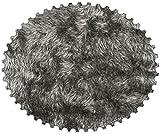 DIE NÄHZWERGE Superflausch LANGHAAR/FLOKATI-OPTIK, EXTRAWEICH in 4 melierten Farben - Meterware ab 50cm | Wellness-Fleece Softplüsch Microfleece Shaggy (grau)