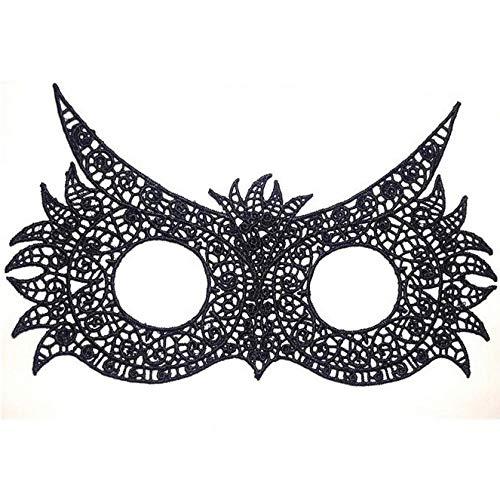 TINGTING Schwarze Spaß Spitzenbrille Mode Thema Party Party Maske Halloween Weihnachten Tierform,J
