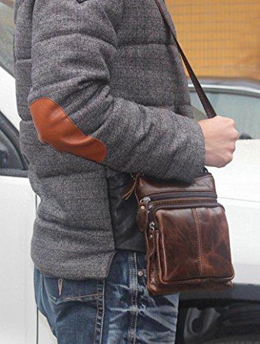 Crossbody a Pelle Cellulare Uomo Spalla Caffè Piccolo Borsa Messaggero in Borse PAfnq4xPI