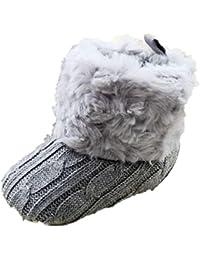 Tefamore Zapatos Botas de nieve Bebe de Antideslizante de Suave de Primeros caminantes Invierno Otoño