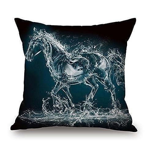 Artistdecor le cheval d'oreiller du, 45,7x 45,7cm/45, 45cm de décoration, cadeau pour canapé, Mari, une salle de danse, Home Cinéma, son, ado (chaque côté)