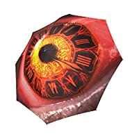 Kitchor Costum Clock Eye Umbrellas Design Your Own Add Logo or Image Rainy/Sunny Foldable