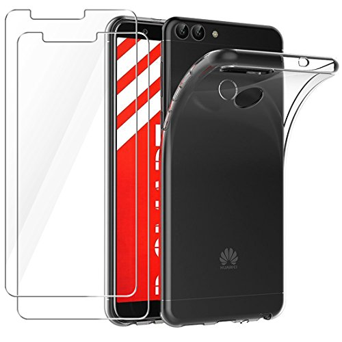 Funda + 2x Cristal para Huawei P Smart