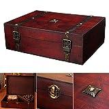 lembeauty Antik Holz Desktop Aufbewahrungsbox Haushalt Register identifikationstechnik Jewelry Werkzeug Organizer mit Metall Schnalle