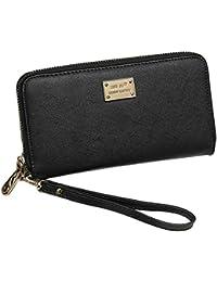 Mujer señora chica cremallera PU cuero embrague largo monedero con tarjeta  titular dinero bolsa Color sólido f8d2e2c10343
