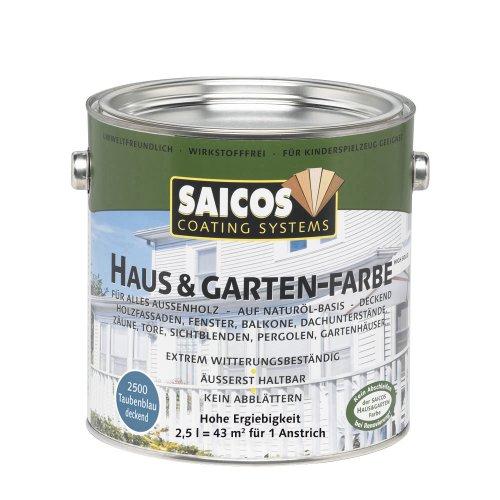 Preisvergleich Produktbild Saicos 2500 500 Haus und Gartenfarbe taubenblau 2.5 l