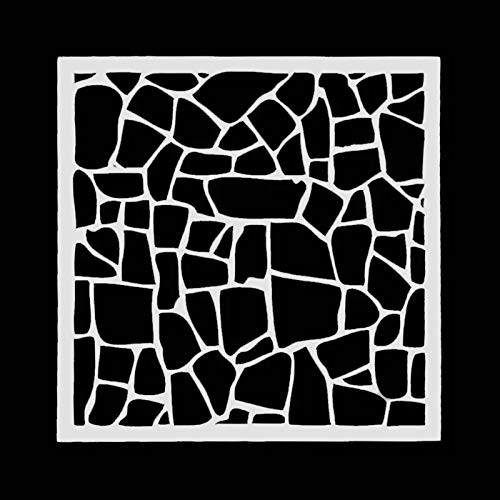Siddhant Art SAS 041 Bricks Stone DIY Wall Texture Stencil for Scrapbook Coloring Painting