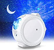 LED Night Light Projector,LUXONIC 3-in-1 Star Night Light Ocean Wave Projector Light Decorative Moon Light wit
