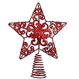 Aneco, puntale per albero di Natale in metallo glitterato, 25,4 cm, decorazione per la casa 10 Inches Sandali Adventure Seeker, punta chiusa - T - Bambini
