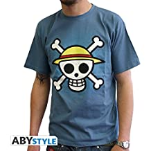 ABYstyle abystyleabytex058 _ gd-xl Abysse One Piece calavera con mapa de manga corta Hombre