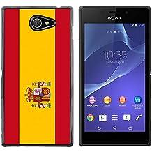 STPlus España Bandera española Carcasa Funda Rigida Para Sony Xperia M2
