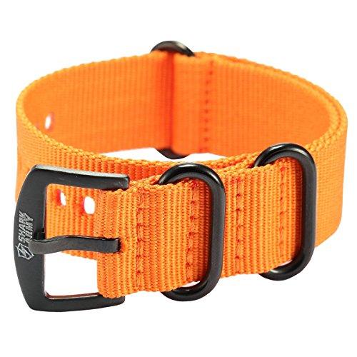 SHARK ARMY 22mm Orange Armband aus Nylon Ersatz WTL069