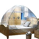 YOUJIA Zwei Türen Insektenschutz Fliegengitter Moskitonetz mobil Babymoskitonetze für Indoor Outdoor Blau 200*220*150CM
