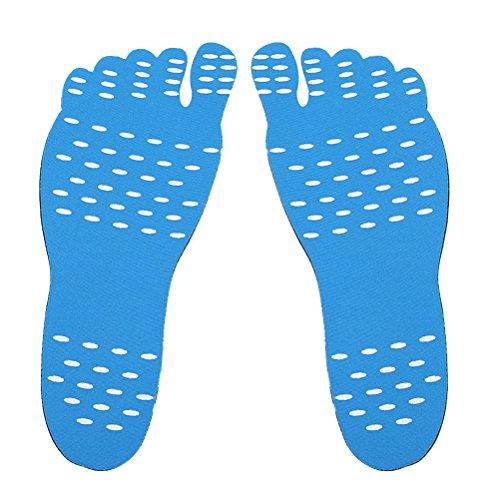 ROSENICE Klebesohlen, Barfuß Sohlen selbstklebende Einlegesohle Anti Rutsch unsichtbare Strand Schuhsohle Größe S (blau)