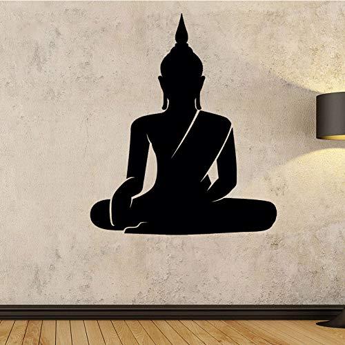 guijiumai Cocoplay Buddha Seduto Adesivi murali Adesivo Rimovibile Chakra Mandala Mantra Chakra Meditazione Sticker Decor Yoga Room 8 XL 58cm X 69cm