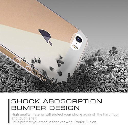 iPHONE SE/5SE nauc, custodia Profer in TPU ultrasottile morbida e flessibile in silicone antigraffio per iPhone 5/5S SE 5SE Armband-schwarz - TPU-durchsichtig