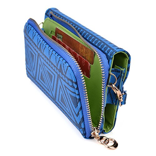 Kroo Pochette/étui style tribal urbain pour Samsung Galaxy Pocket Neo vert bleu marine
