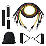 LIVEHITOP Exercise Resistance Band Set, Fitness Training Tubes with Door Anchor, Ankle Strap, Workout Guide For Building Muscle, Fat Loss, Rehabilitative Exercise, Home Outdoor