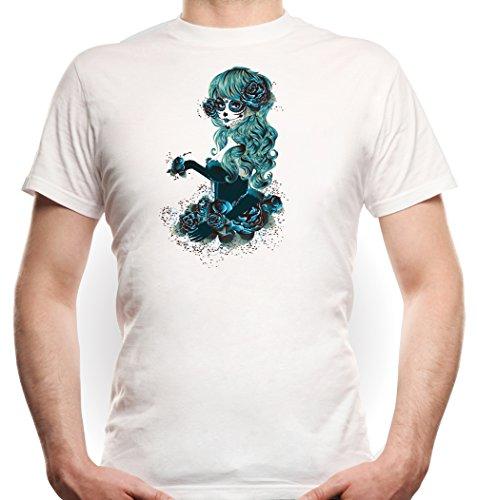 a Muerte Blue T-Shirt White XXL (Der Wiz Halloween Kostüme)