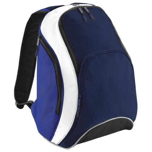 Zaino Bagbase Teamwear, 21 Litri Blu Scuro / Blu Royal / Bianco