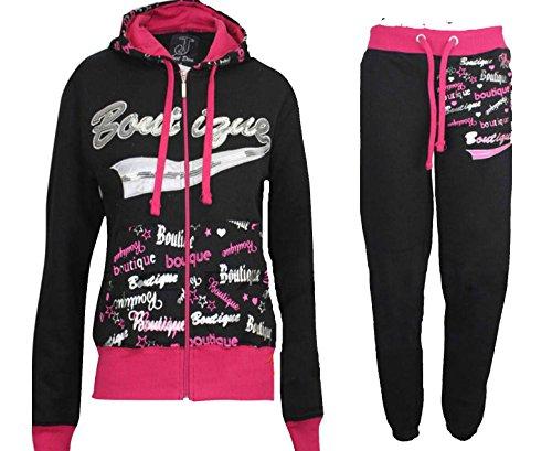 Damen Trainingsanzug Sport Sweatshirt Hose mit Reißverschluss Rei Fleece Hose