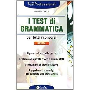 I test di grammatica per tutti i concorsi