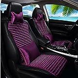 GAOFEI Auto-Sitzkissen, Buchweizen-Rümpfe Auto-Sitzbezüge, belüftete atmungsaktive bequeme Auto-Kissen, rutschfeste vier Jahreszeiten allgemeiner Auto-Sitz-Schutz , purple