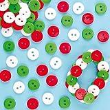Mini Bottoni Natalizi Rossi, Bianchi e Verdi Baker Ross (confezione da 250)-per artigianato e progetti artistici, biglietti, regalini, feste e decorazioni