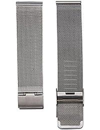 Malloom® Moda milanesa acero inoxidable de malla 18 mm Venda Reloj Pulsera Correa Repuesto (plata)