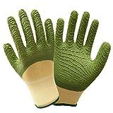 HFFFHA Arbeitshandschuhe PU Coated-12 Pairs, Handgelenkmanschette, Ideal Für Autoreparatur, Heimwerker (grüne Handschuhe)