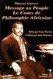 Message au peuple - Le cours de philosophie africaine